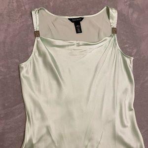Pale green silk blouse